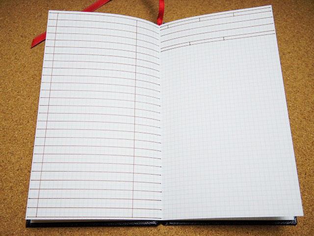 無印良品の「手のひらサイズポケットノート」(無印野帳)に読書記録の書式を書き込む